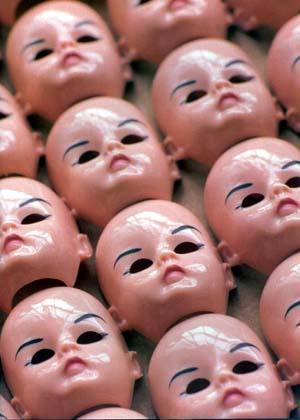 Doll Faces Produced by the Alexander Doll Company