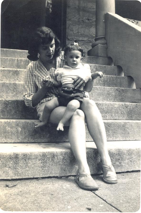 Marcia Soloski Levin and her Daughter, 1951