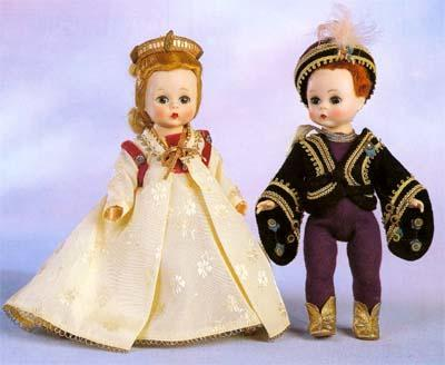 Romeo and Juliet Alexanderkins, produced by the Alexander Doll Company