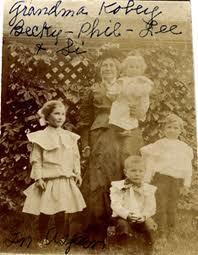 Mary Kobey and her Grandchildren circa 1905
