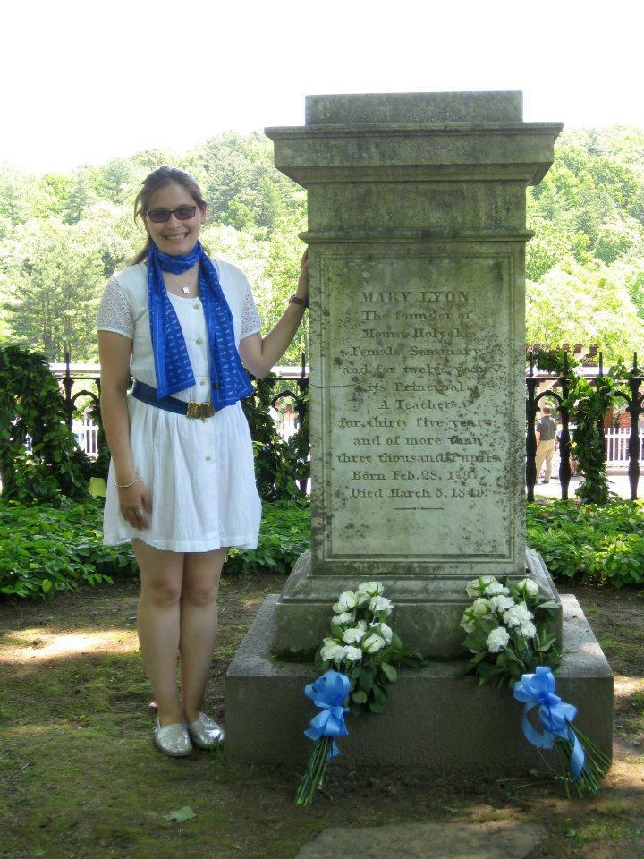 Miriam Cantor-Stone at Mary Lyon's Grave