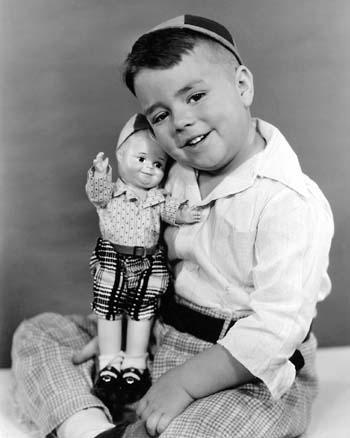 """Spanky"" (George McFarland) from the television show ""The Little Rascals,"" with his likeness"