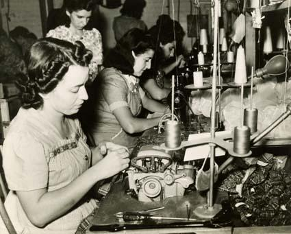 Workers at the Alexander Doll Company