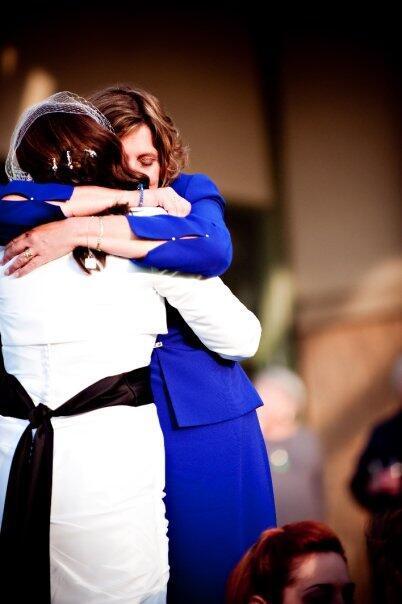 Melissa Scholten-Gutierrez Hugs her Mother