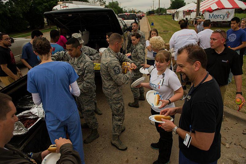 Disaster relief after tornado in Moore