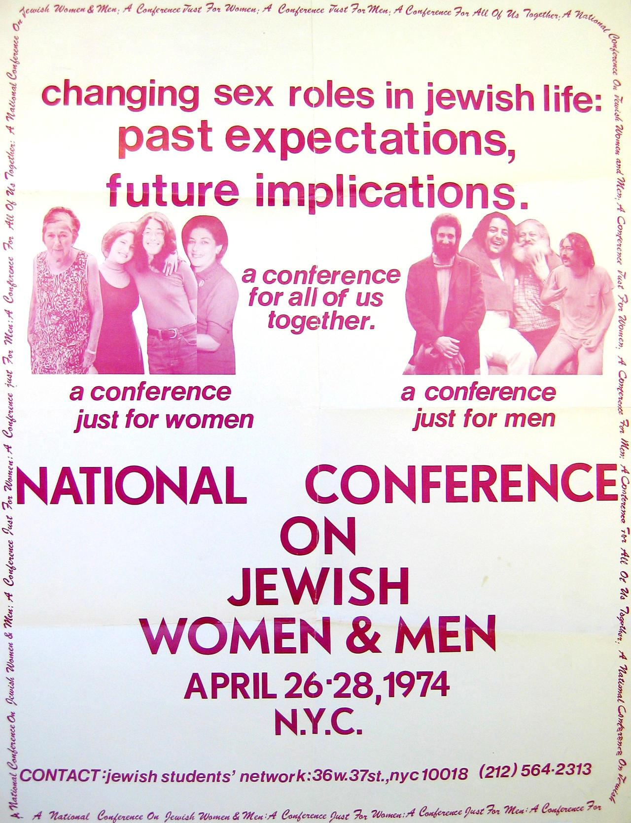 National Conference on Jewish Women & Men Poster