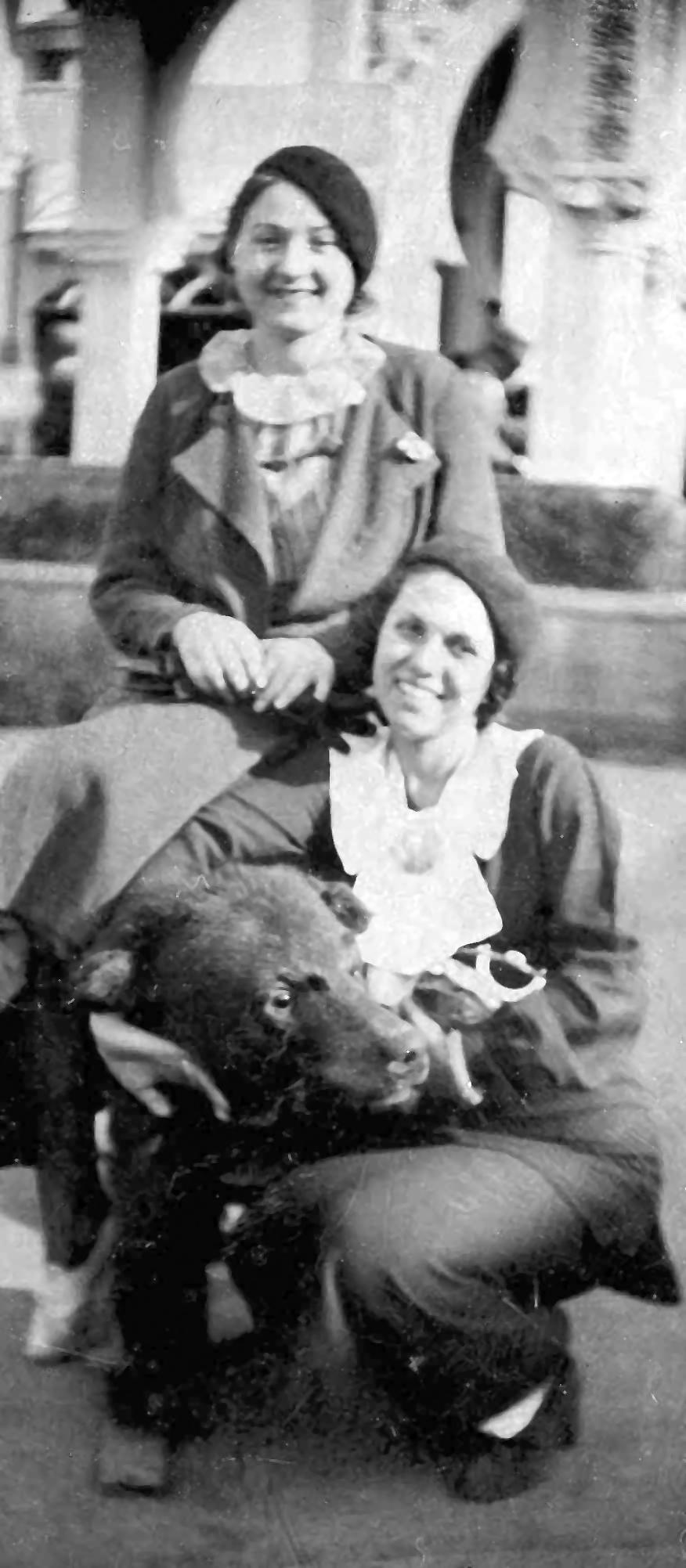 Nicole Hollander's Mother with her Friend Olga