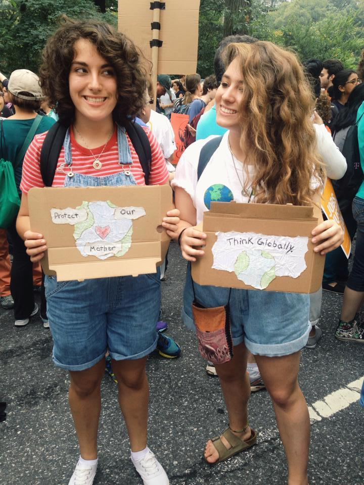 Rising Voices Fellow Noam Green at the People's Climate March
