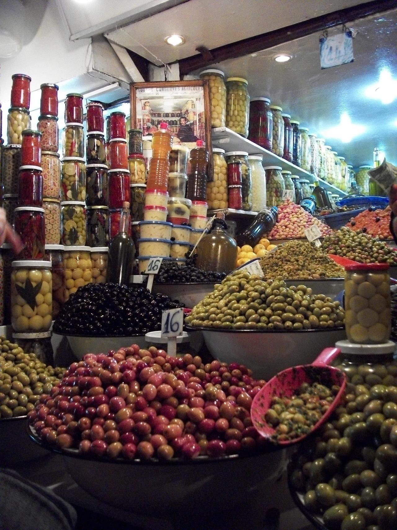 Olive vendor in Marrakesh