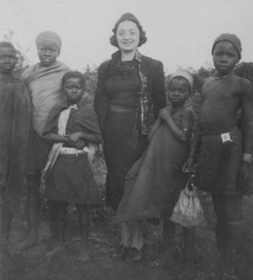 Molly Picon and Children in South Africa