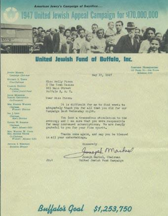 1947 United Jewish Appeal Campaign letter, May 17