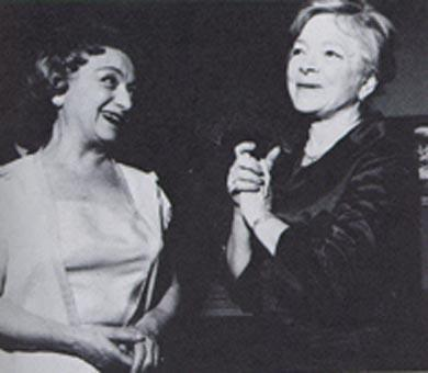 Molly Picon with Helen Hays, 1980