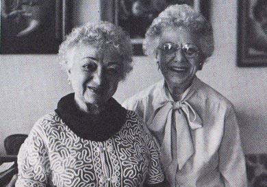 Molly Picon with her sister Helen