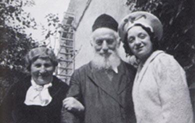 Molly Picon with her In-laws, Kalich's Mother and Step-Father (Foigel Gonif) - Chaboufka, Galicia
