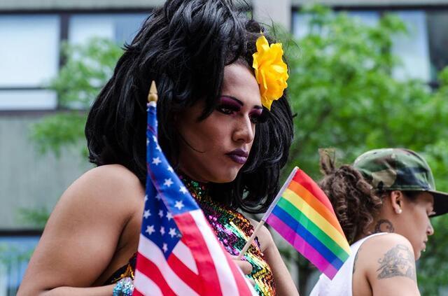 Participant at the Boston Pride Parade, 2013