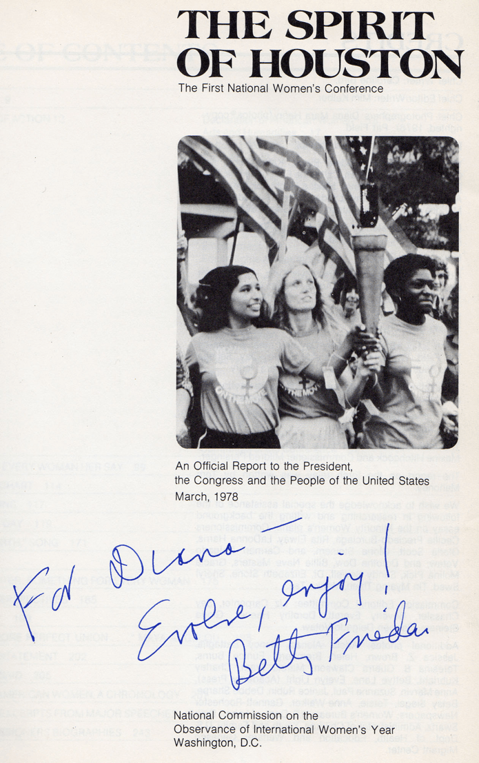 Autographed Report on the First National Women's Conference