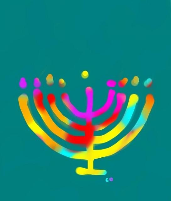 Rainbow Menorah