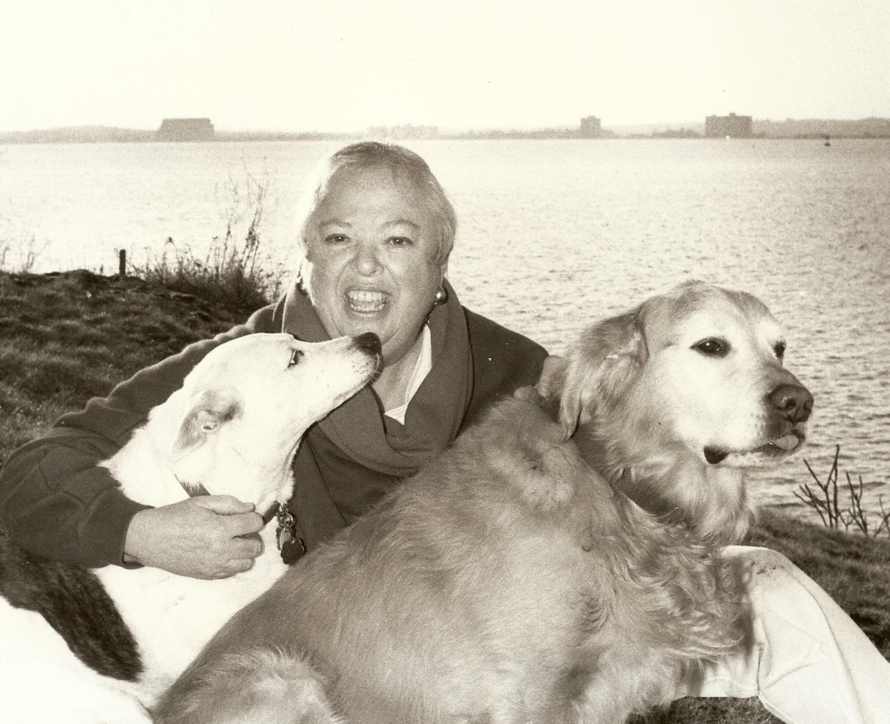 Raysa Bonow with her Dogs
