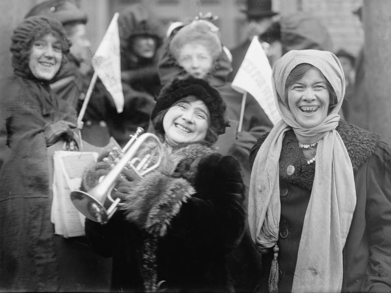 Rose Sanderson and Women's Suffragists, 1913