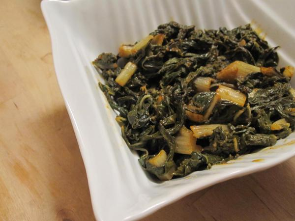 Moroccan Swiss Chard Salad (Salade de Blettes)