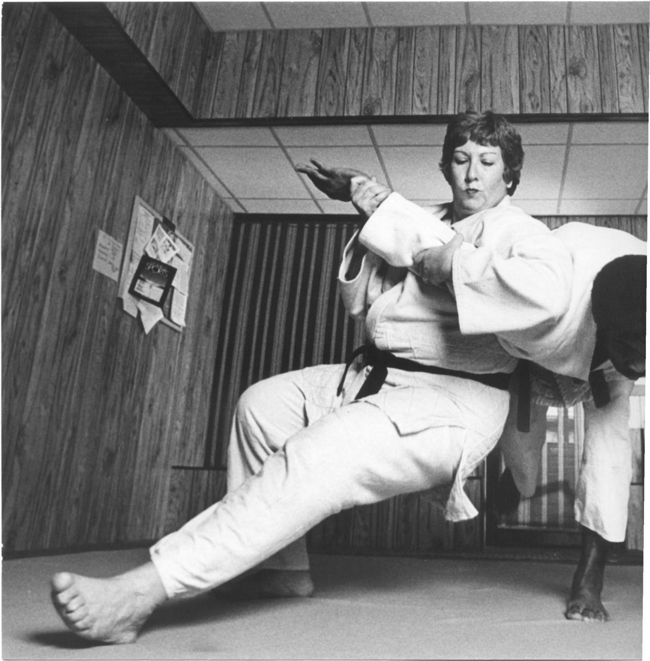 Rusty Kanokogi Teaching Judo