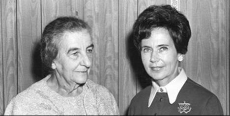 Ruth Nussbaum and Golda Meir