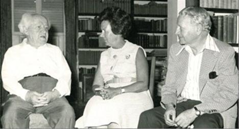 Ruth and Max Nussbaum with David Ben Gurion