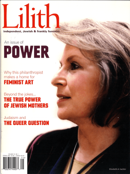 Elizabeth Sackler Cover of Lilith Magazine