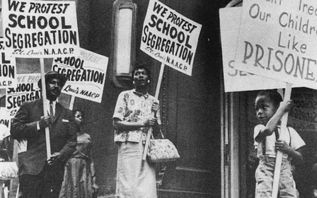 Protesters Against School Segregation