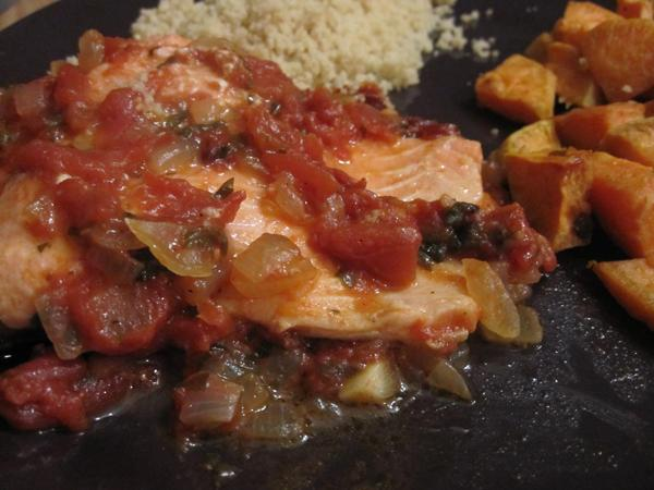 Sephardic fish with tomato sauce
