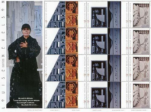 Louise Nevelson stamps