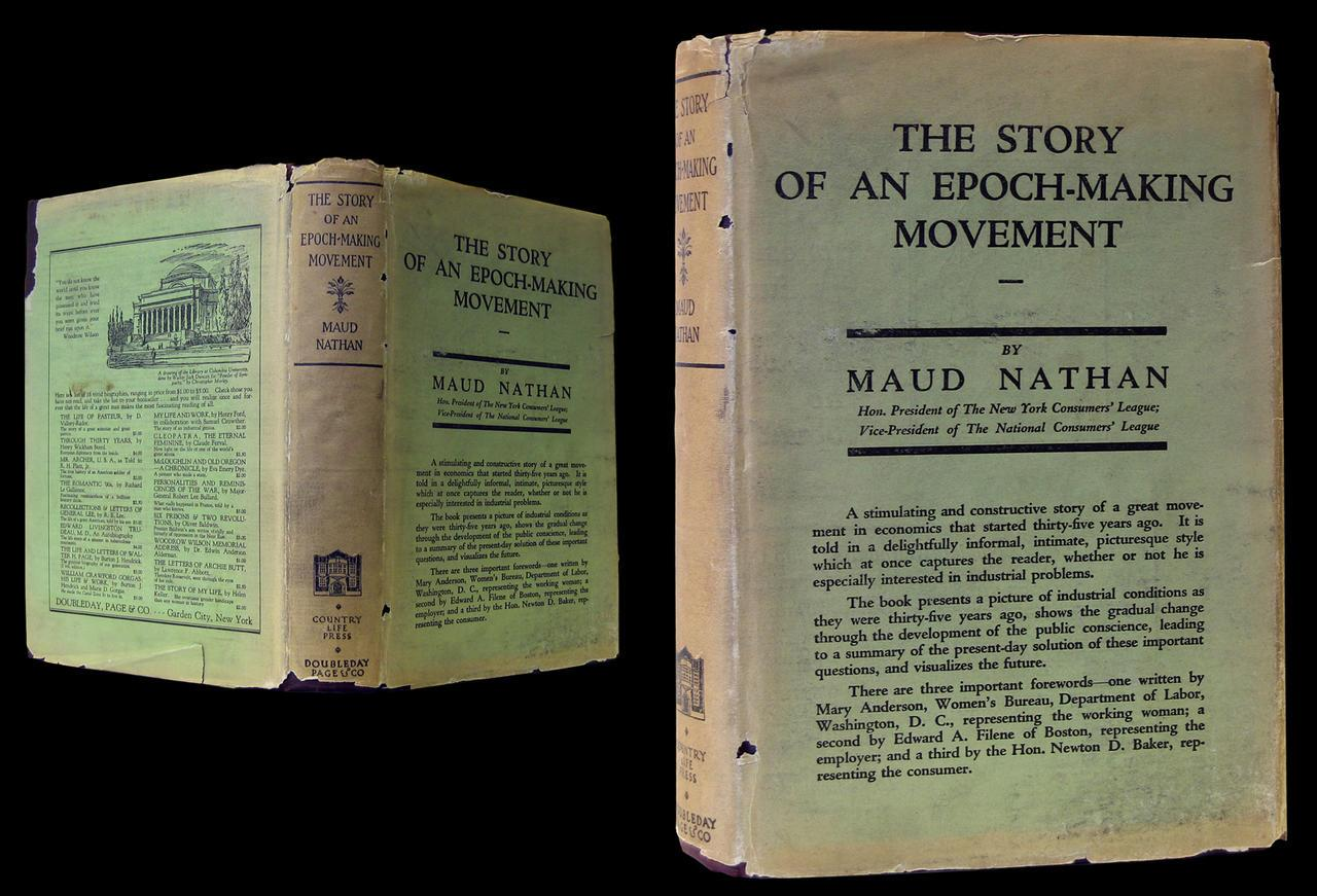 The Story of an Epoch-making Movement Maud Nathan, front and back cover