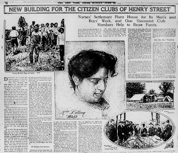 """New Buildings for the Citizens Club of Henry Street,"" June 1914"