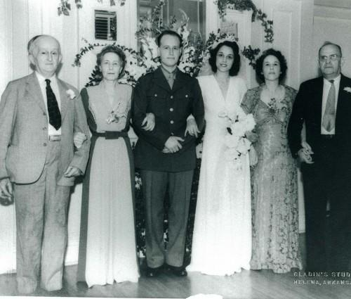 Miriam and David Solomon Wedding, 1942