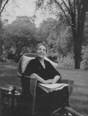 Lillian Wald in Westport, Connecticut, 1938