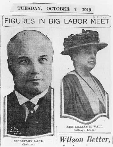 """Figures in Big Labor Meet"" Article from ""Suffrage Leader,"" October 7, 1919"