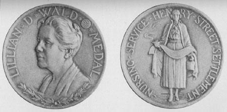 Lillian D. Wald Commemorative Medal, 1938