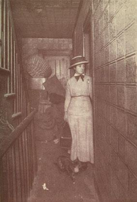 A Nurse Visiting a Tenement