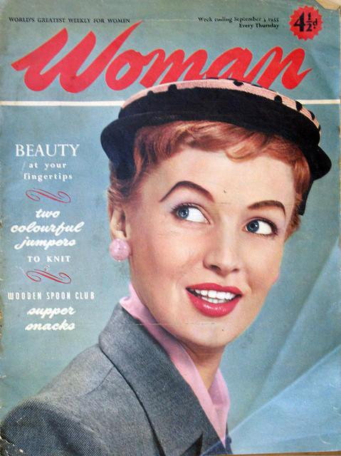 Woman on 1950s magazine photo