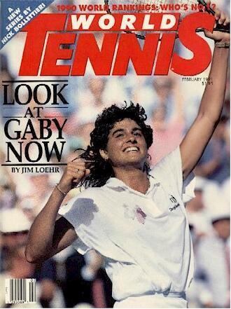 World Tennis Magazine cover