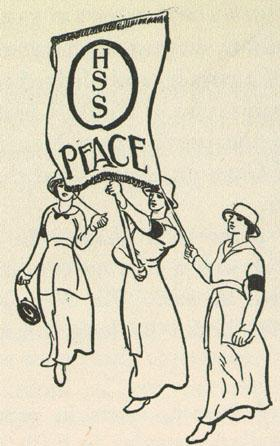 Women Marching for Peace Drawn by Lillian Wald, 1934