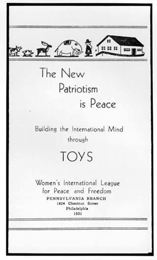 The New Patriotism Is Peace - Women's International League for Peace and Freedom Flier