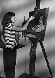 Young Amalie Rothschild Painting in her Studio