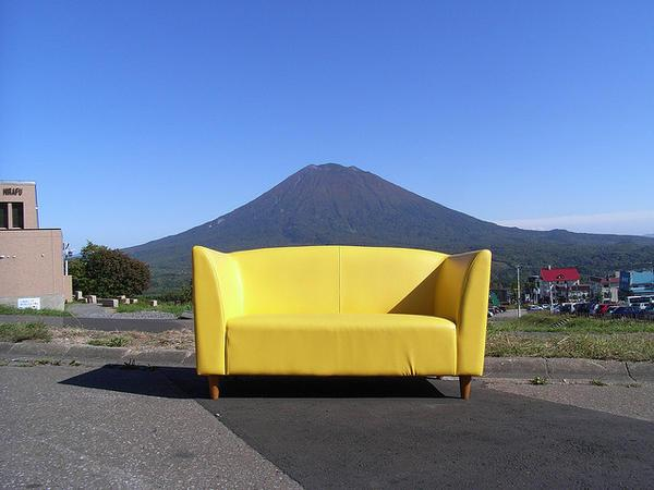 A Couch and Mountain