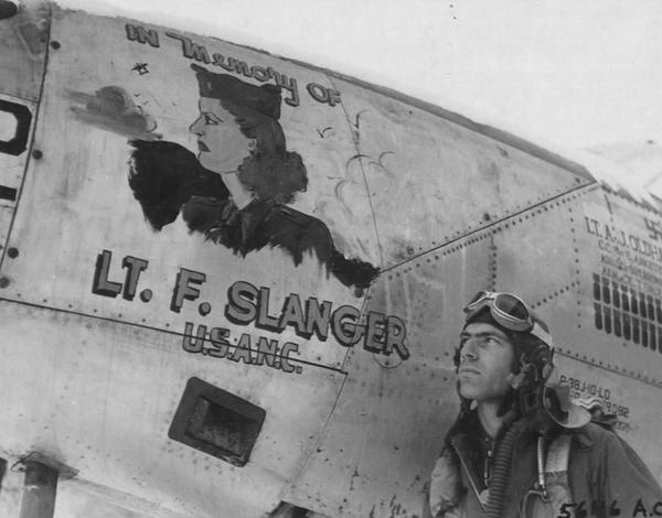 "Lockheed P-38 Lightning Painted ""In Memory of Lt. F. Slanger, U.S.A.N.C"""