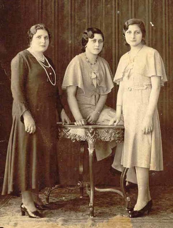 A Moroccan-Born Mother with Two of her Argentine-Born Daughters, circa 1929