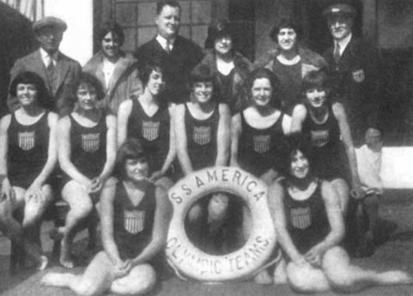 Charlotte Epstein with the 1924 American Olympic Team