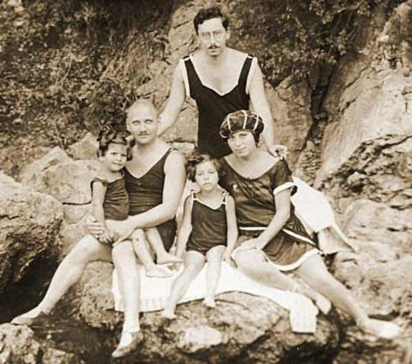 Gisi Fleischmann with Her Family