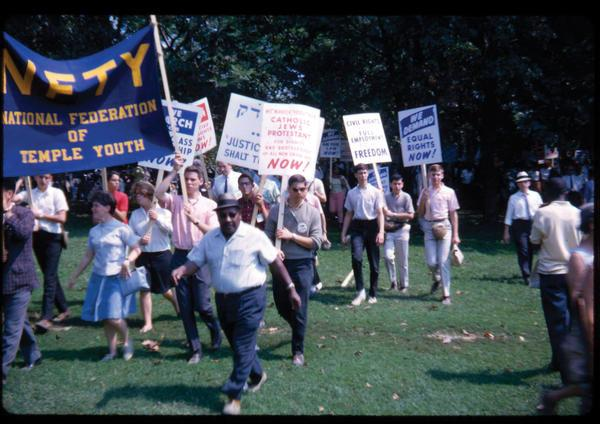 National Federation of Temple Youth at the March on Washington, August 28, 1963