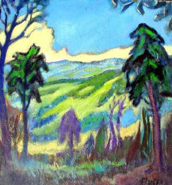 """Expressionist Landscape"" by Marie Mela Muter"